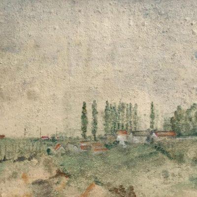 "Grande toile Photo Skyline Ville Scène Mur Art 44x20 /"""