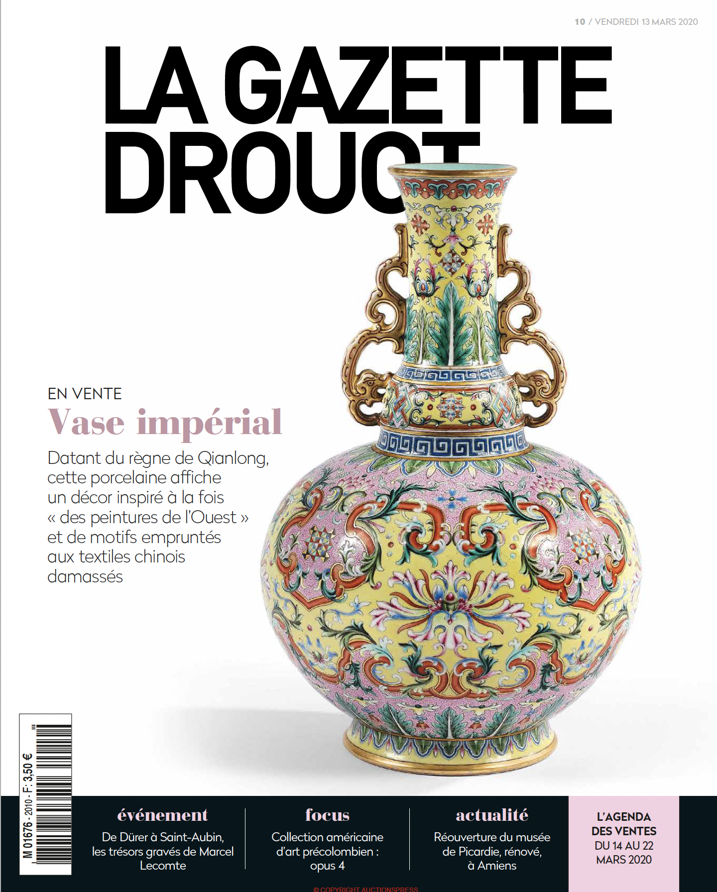 Gazette Drouot #10 du 13 MARS 2020